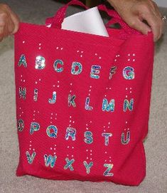 Make Your Own Braille Bag! Here's a crafty idea that's simple and will also help raise braille awareness. Make a cute braille bag for your child and they'll be the talk of the town!