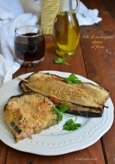 Fette di melanzane ripiene al forno - Blog di Il caldo sapore del sud Happy Foods, Antipasto, Diy Food, Fett, Bruschetta, Carne, Italian Recipes, Buffet, French Toast