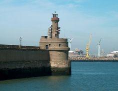 Pier light Zeebrugge,Belgium