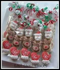Mini 3 pack Christmas cookies by East Coast Cookies Christmas Cookie Exchange, Christmas Sugar Cookies, Christmas Sweets, Christmas Cooking, Noel Christmas, Christmas Goodies, Holiday Cookies, Holiday Treats, Christmas Gifts