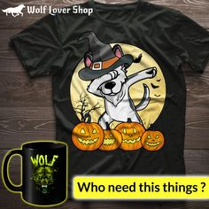 Halloween Special wolf t shirts and gift items from wolf lover shop Order Now ! Native American T Shirts, Snow Wolf, Alpha Wolf, Wolf Artwork, Wolf T Shirt, Wild Wolf, Hd Photos, Full Moon, Wolves