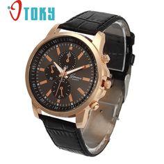 Excelente Calidad de la Nueva Marca de Lujo de Cuarzo Relojes de Moda de Ginebra de Cuarzo Reloj de Los Hombres Correa de Cuero Relojes de Pulsera Relogio masculino