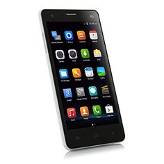 5.0 Pulgada Elephone P3000 Smartphone 4G LTE Android 4.4 MT6582 1.3GHz Quad Core 1GB 8GB HD Pantalla Doble Cámaras + Una Original S-View Flip funda protectora Blanco