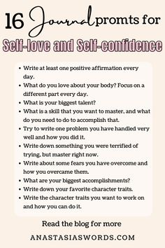 Journal Prompts For Teens, Journal Writing Prompts, Journal Ideas, Self Confidence, Improve Confidence, Journal Questions, Therapy Journal, Love Journal, Writing Promps