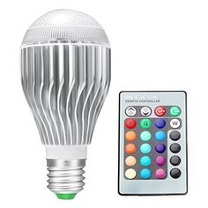 $5.39 (40% Off) on LootHoot.com - CNSUNWAY LIGHTING E26 LED Light Bulb, 10W RGB Color Changing LED Lamp Dimmable with Remote Control