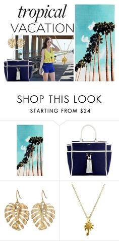 """Tropical Vacation"" by fleur-d-hiver on Polyvore featuring PBteen, Melissa Odabash, The Sak and Dogeared"