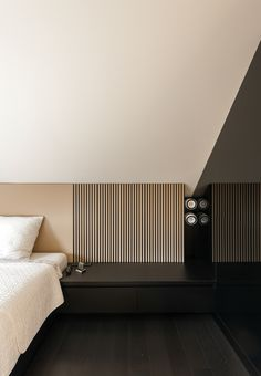 Bedroom by Reid I Senepart I Architecten. Photo by Luc Roymans.