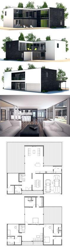 Container House - Instead of having an upstairs I could make the garage into a master bedroom. It would definitely be more wheelchair friendly Who Else Wants Simple Step-By-Step Plans To Design And Build A Container Home From Scratch? Building A Container Home, Storage Container Homes, Container House Design, Shipping Container House Plans, Shipping Containers, Container Home Plans, Shipping Container Design, Container Architecture, Future House