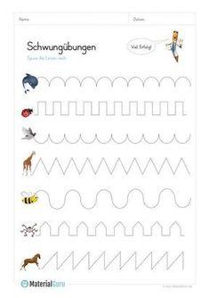 NEW: A free worksheet for preschool, on which the kids swing . - Kindergarten active - NEW: A free worksheet for preschool where kids can swing … - Math Practice Worksheets, Kindergarten Worksheets, Maternelle Grande Section, Kindergarten Portfolio, Science Student, Free Preschool, Preschool Writing, Preschool Activities, Pre School