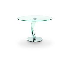 2e6fbba602f4 BAKKARAT ALTO - Tonelli design - D Urbino Lomazzi - round glass table Round  Glass