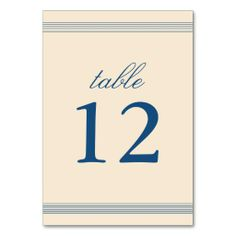 Vintage Charm Wedding Table Number Card Table Card