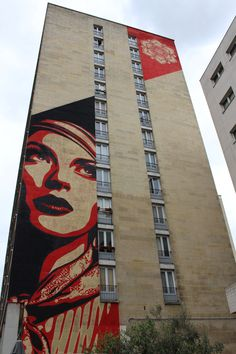Stencil painting by rnst in paris 13th district pochoir for Pochoir mural geant