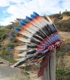 Indian headdress warbonnet