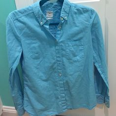 Blue button down top Blue GAP button down. Never worn, no tags. Size small. Feel free to ask any questions:) GAP Tops Button Down Shirts