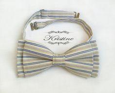 Mens bow tie vintage stripes  handmade bow tie  by KristineBridal, $39.99