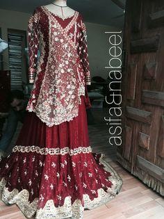 Asifa&Nabeel Wedding Hijab, Wedding Wear, Wedding Dresses, Pakistani Couture, Pakistani Dresses, Ethnic Fashion, Indian Fashion, Dulhan Dress, Desi Clothes