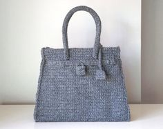 Burgundy crochet bag handmade purse with the style of by SILAYAYA