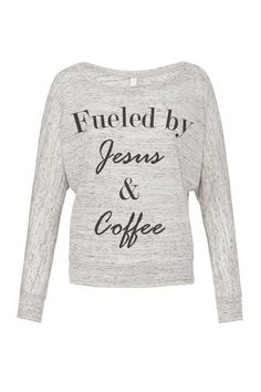Fueled by Jesus and Coffee Coffee tee Coffee by SweetestThingCo