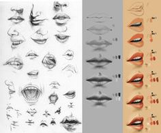 Study sketch + tutorial. Mouth. by ~Cthulhu-Great on deviantART