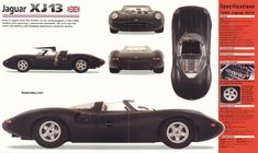 Only one built for The Le Mans 24 Hour race in the mid-sixties. It never raced. It is sublime Jaguar Xj13, Le Mans, Racing, Car Stuff, Cars, Image, Autos, Running, Auto Racing