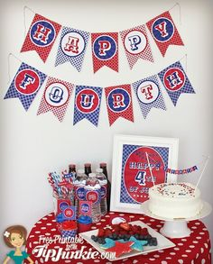 8 July 4th Party Printables For Your Celebration! {FREEBIE} - Tip Junkie