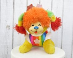 Sale Vintage 80's Rainbow Brite Dog Stuffed Animal 80's Cartoon Puppy Brite