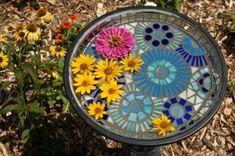 Mosaic birdbath by Jadedgold1