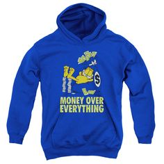 Garfield/Money Is Everyfthhing Youth Pull-Over Hoodie in Royal Boy's