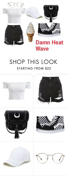 """""""#Heat Wave"""" by loloner ❤ liked on Polyvore featuring Topshop, Vans and Sole Society"""