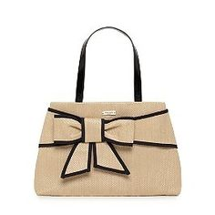 I like the clean lines, bow & color combination   Kate Spade purses
