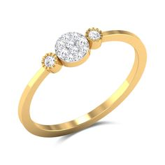 Up-Town Sassy Diamond Studded Gold Ring Diamond Studs, Diamond Jewelry, Gold Jewellery, Diamond Rings, Gold Finger Rings, Gold Rings, Gold Ring Designs, Small Rings, Pretty Rings