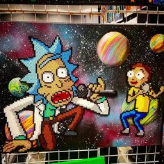 #Rick_And_Morty getting schwifty by 8_bitbabe