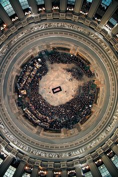Bob Gomel, Overhead View of Coffin of Dwight D. Eisenhower