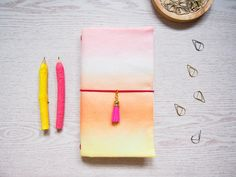 Ombre Fabric Traveler Notebook for Standard Midori by Catisfy