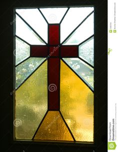 Cross Framed  In Stained Glass - Download From Over 57 Million High Quality Stock Photos, Images, Vectors. Sign up for FREE today. Image: 1290704
