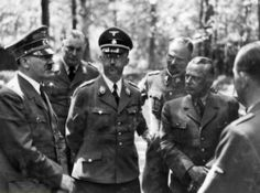 Adolf Hitler with Heinrich Himmler, Karl Wolff and others at the Wolf's Lair