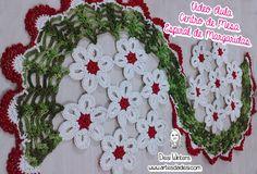Centro de Mesa Espiral de Margaridas #crochê - Artes da Desi