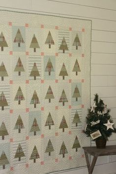 My Favorite Christmas Quilts. Like this cute layout, but maybe a different pieced tree.