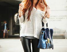 Leather leggings - casual