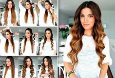 Curling your hair with a hair straitener . #CurlyHair #HairStyle