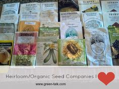 Heirloom Seeds Companies I Love.  Here is where I buy my seeds.
