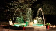 Bring Water show to your property Fountain Model Oasis Decorative Fountains, Outdoor Furniture Sets, Outdoor Decor, Light Effect, Rooftop, Oasis, Terrace, Backyard, Watch