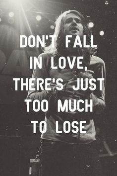"""Terrible Things,"" Mayday Parade lyrics - Don't fall in love, there's just too much to lose - love quote Dont Fall In Love, Falling In Love, My Love, Band Quotes, Lyric Quotes, Qoutes, Quotes To Live By, Love Quotes, Amazing Quotes"