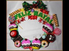 Guirnalda Dulces de Navidad   Todo en GOMA EVA