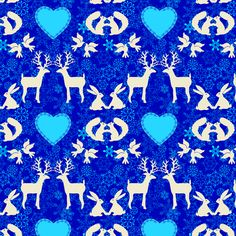 Two by Two Blue fabric by shellypenko on Spoonflower - custom fabric