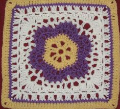 YarnCrazy crochet world: Lace Petals Crochet Squares Afghan, Crochet Blocks, Granny Square Crochet Pattern, Crochet Diagram, Crochet Stitches Patterns, Crochet Motif, Crochet Yarn, Free Crochet, Granny Squares