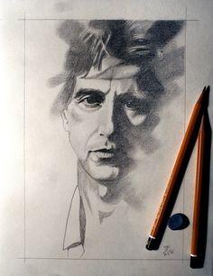 Al Pacino by Miro Zgabaj sketchbook https://www.facebook.com/pages/Miroslav-Zgabaj-Drawing-Painting/114161501988357?ref=aymt_homepage_panel
