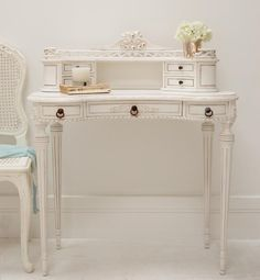 Utterly beautiful, the fabulous Classical White Ladies Writing Desk/Dressing Table. Every girl's dream - you can't get any better than this classic, chic, elegant style - find it here - http://www.sweetpeaandwillow.com/classical-white-ladies-writing-desk-dressing-table