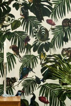 Amazonia Light Wallpaper by Witch and Watchman - 10 m Roll Bold Wallpaper, Botanical Wallpaper, Unique Wallpaper, Wallpaper Panels, Wallpaper Decor, Animal Wallpaper, Nature Wallpaper, Botanical Prints, Amazon Wallpaper