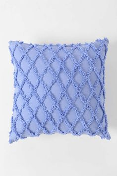 Plum & Bow Diamond Chenille Pillow - Urban Outfitters - periwinkle!